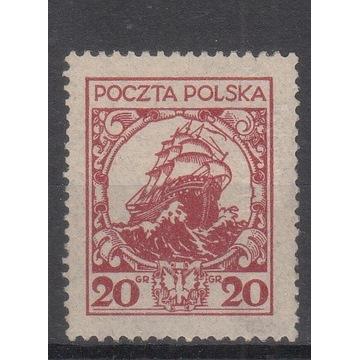 """211ll** """"G"""",  pap. v , czerwony, ZR 12 1/2 :12 3/4"""