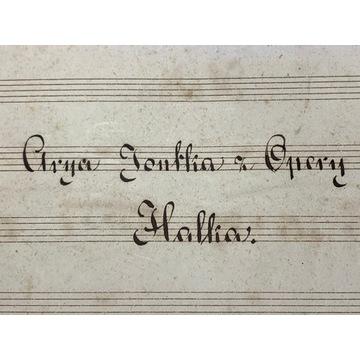 Nuty ręcznie pisane - Halka - Stanisław Moniuszko