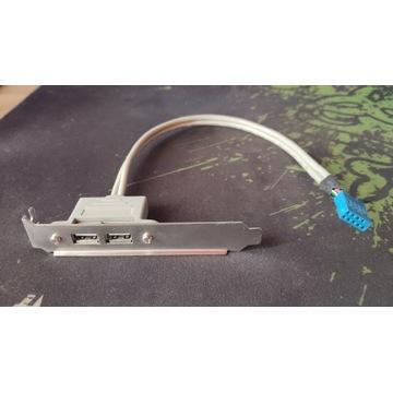 Panel USB na śledziu