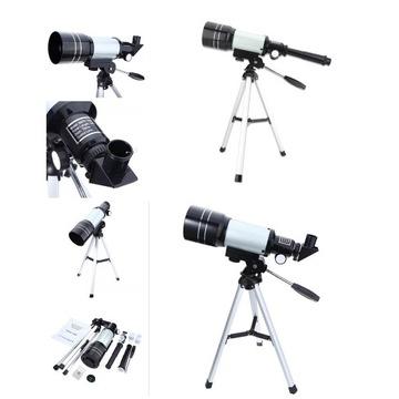 Astronomiczny teleskop z uchwytem na telefon