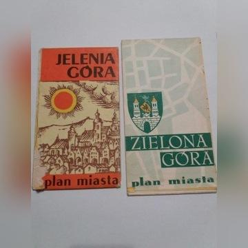 Plan miasta Jelenia Góra 1977 i Zielona Góra 1978