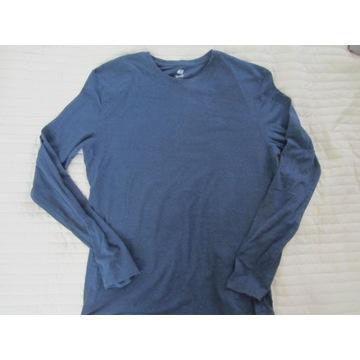 Męska granatowa bluzka z długim rękawem H&M roz L