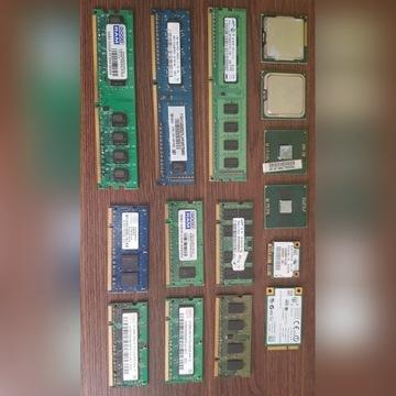 Części komputerowe Pamięć RAM Procesory karty WiFi