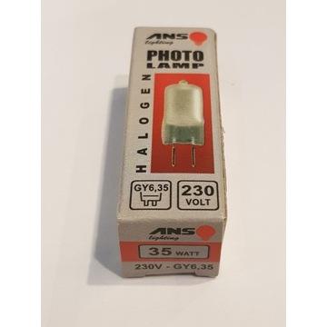 PhotoLAMP żarówka halogenowa GY6,35 35W 230V mat.