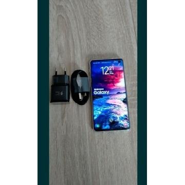 Samsung s10 z ladowarka etui stan bdb kolor white