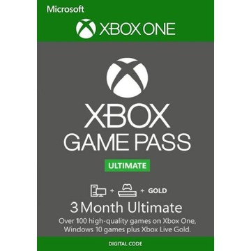 Xbox Game Pass Ultimate + Live Gold (3 m - ce)