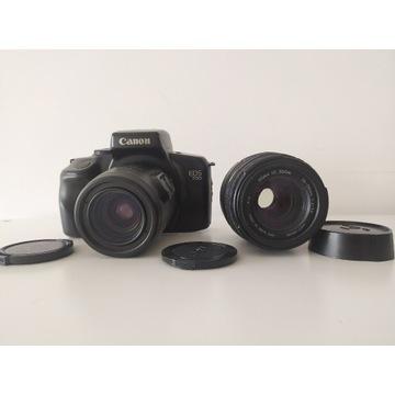 Aparat analogowy Canon EOS 700 dwa obiektywy