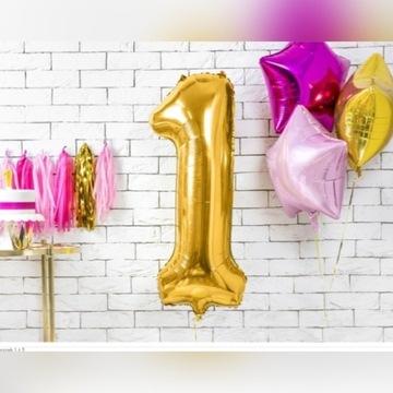 Balon cyfra, 100 cm od 0 do 9, na hel