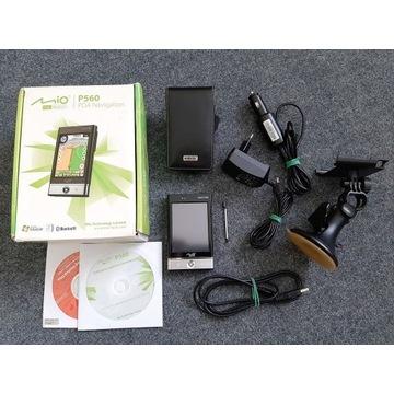 Nawigacja Mio P560 GPS Palmtop + uchwyt + etui!