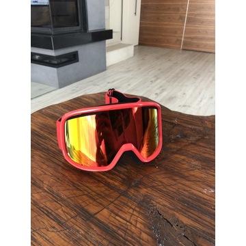 Gogle narciarskie Smith, czerwone, lustro, nowe