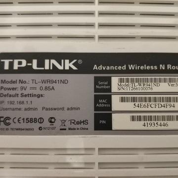Router TP-LINK, model TL-WR941ND