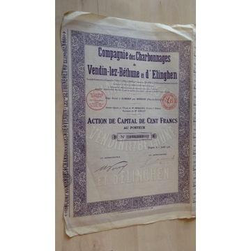 Akcje: Compagnie des Charbonnages