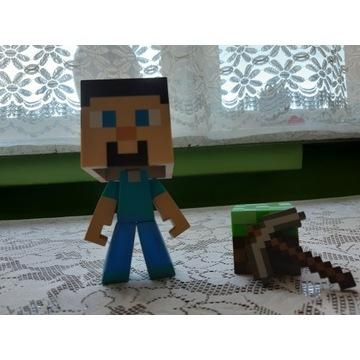 Figurka ruchoma Minecraft Steve + 2 akcesoria