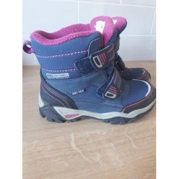 Zimowe, wodoodporne buty dla dziewczynki roz.31