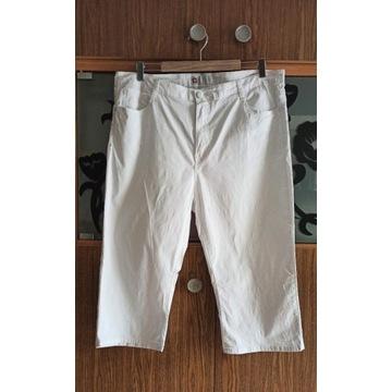 Letnie białe spodnie 3/4 rozm 48