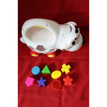 Sortowanie kształtów kształty pies piesek sorter