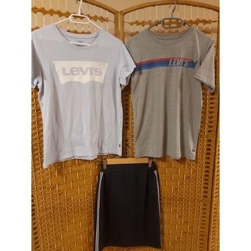 010. koszulki LEVIS i spódnica r. 170