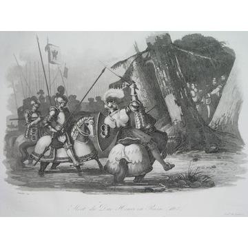 1836 ORYGINAŁ SANDOMIERZ HENRYK śmierć POLSKA