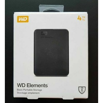 WD Elements Portable 4TB nowy