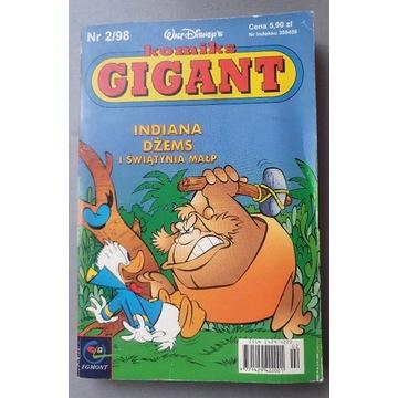 Komiks Gigant 1998 / 2  indiana dżems stan bdb