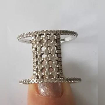 srebrny pierścionek - APART rozmiar 12