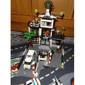 Zestaw klocków policja komisariat + auta + motor