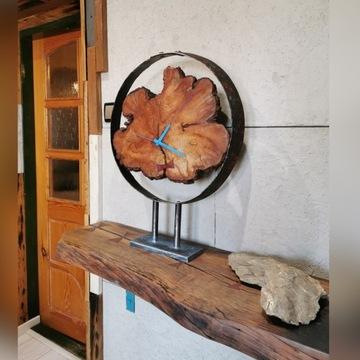 Zegar naturalny loft industrial
