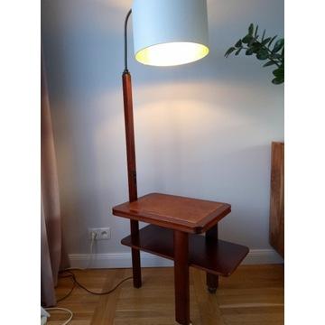 Lampa ze stolikiem w stylu art deco vintage mebel