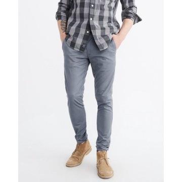 Spodnie chinosy Abercrombie Hollister 31 32 skinny