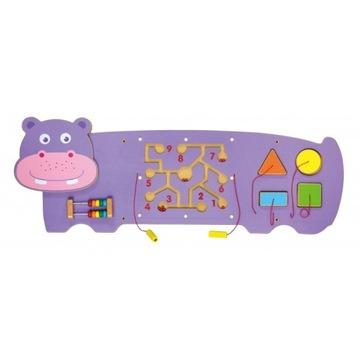 Sensoryczna tablica manipulacyjna Hipopotam