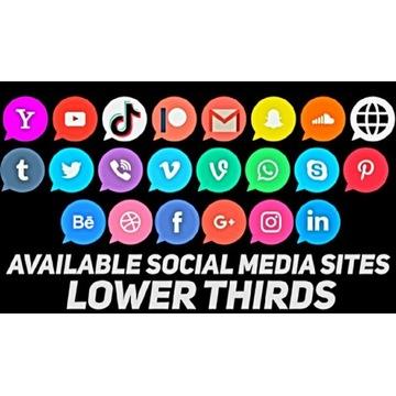 STYLOWE ELEGANCKIE [ 7 ] LOWER THIRDS SOCIAL MEDIA