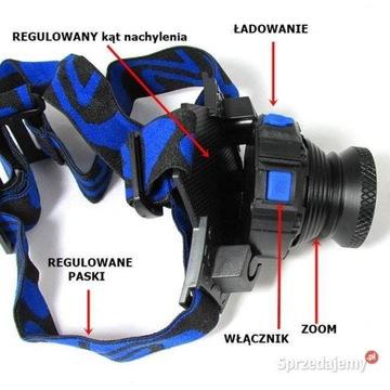 Latarka Czołowa Aluminum XM-L Q5 Led Headlight T6