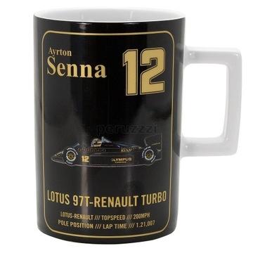 F1 Ayrton Senna kubek 1st Portugal 1985 Lotus 97T