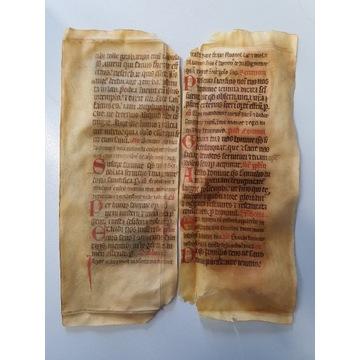 RĘKOPIS ŚREDNIOWIECZNY, BIBLIA XV w.