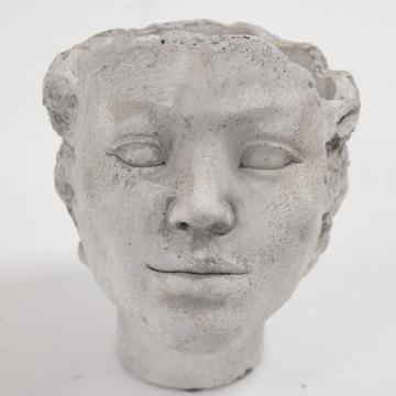 Wyjątkowa osłonka kobieca głowa - jasny szary