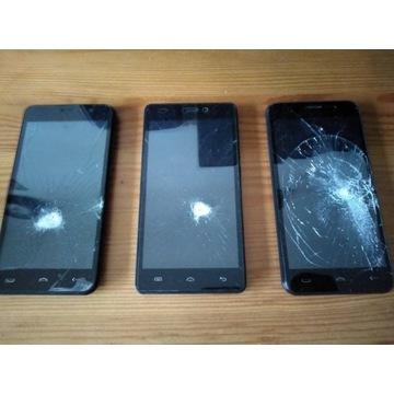 Telefony HOMTOM HT16 , DOOGEE X5 3szt. Uszkodzone