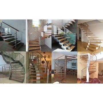 Schody drewniane i metalowe