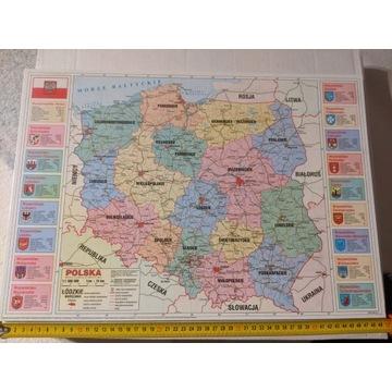 Mapa administracyjna + tablice mat chem (podkład)