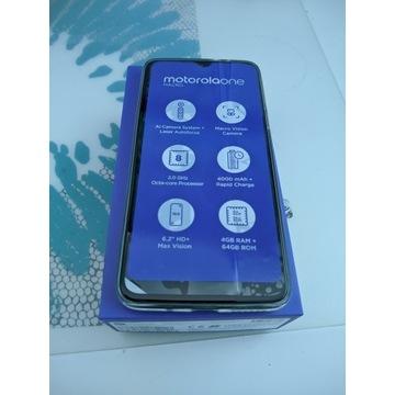 Motorola One Macro nowa gwarancja komplet