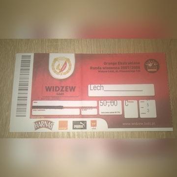 Bilet Widzew Łódź - Lech Poznań z marca 2008 r.