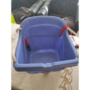 Huśtawka kubełkowa dla dzieci fioletowa