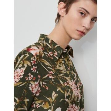 RESERVED Zielona koszula w kwiaty nowa