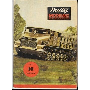 Mały Modelarz 10 1976 Mazur ciągnik + armato-haubi