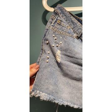Nowe jeansowe szorty 46