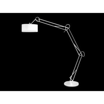LAMPA podłogowa AZZARDO BOSSE biała nowoczesna