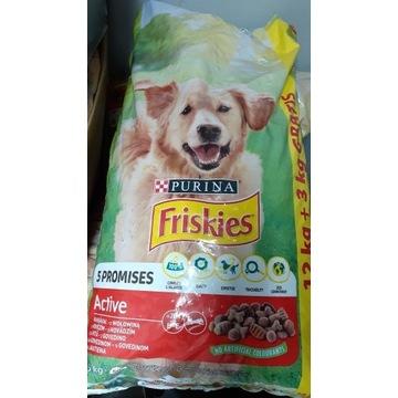 Karma sucha dla psa FRISKIES Active 15kg wołowina