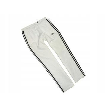 Śliczne Spodnie Dresowe Męskie ADIDAS Rozm.S Białe