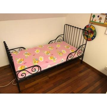 IKEA MINNEN regulowana rama łóżka + materac