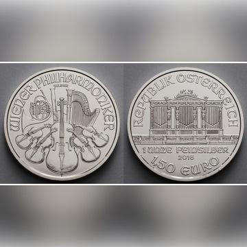 1,5 Euro Wiedeńscy Filharmonicy z rolki UNC