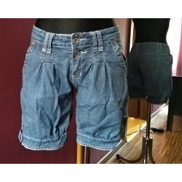 Krótkie spodenki jeansowe szorty bermudy Gold Sk M